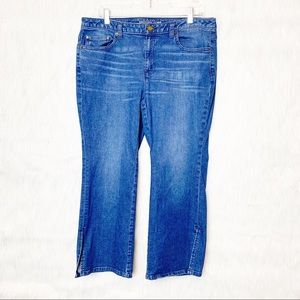 Michael Kors cropped flare jeans-Size 12